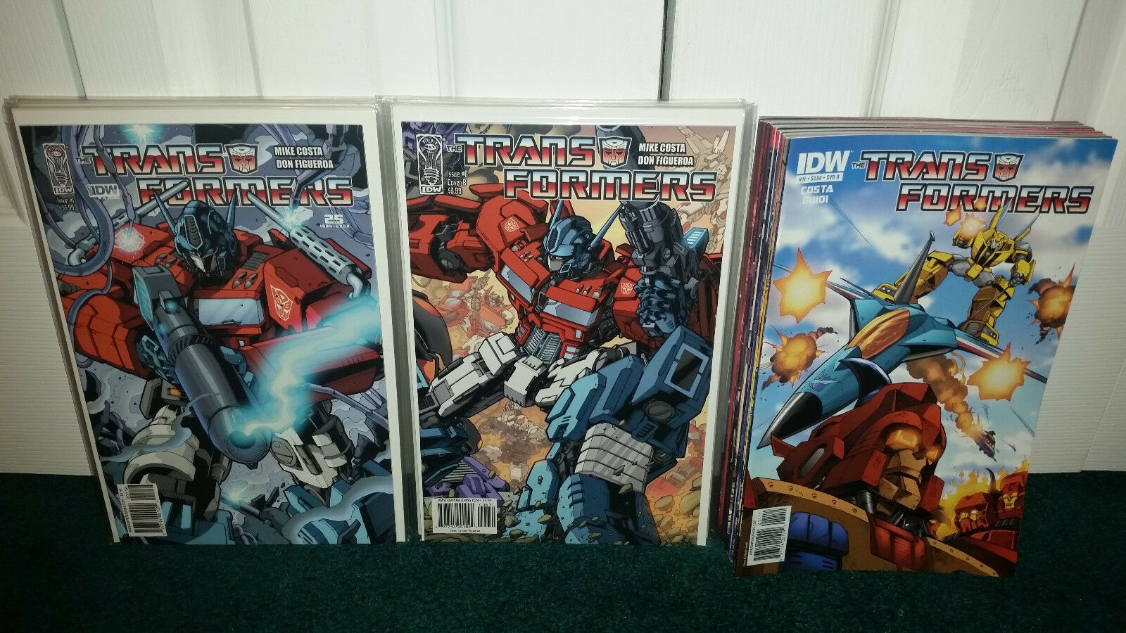 IDW Transformers  1-9 & 11-31 All B Covers Chaos + The Death Of Optimus Prime
