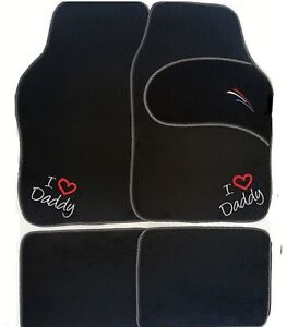 PERSONALISED UNIVERSAL FIT Car mats I  WE LOVE DADDY GRANDAD Christmas ANY TEXT?