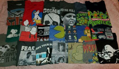 Lot Of 20 Men Graphic T-Shirts Size L