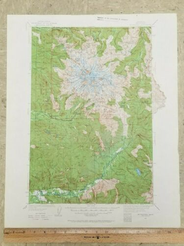 VINTAGE ANTIQUE 1924 MOUNT MT RAINIER Washington WA USGS Topographic Topo Map