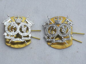 16th/5th Queen S Royal Lancers, Kragenabz Paire, Anodisé Aluminium Staybright Vgxmww6y-07225220-200810447