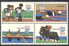 USA 1980 Olympic Games/Olympics/Sport/Horses/Rowing/Swimming 4v blk (n25354)