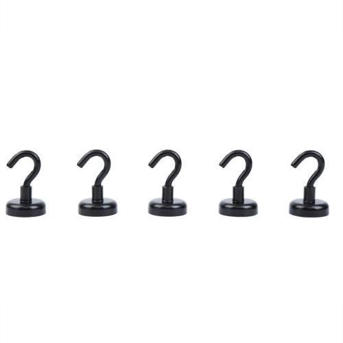 40lb Hook Set NdFeB Magnet Hooks Strong Heavy Duty Magnetic Hooks 5 Pack