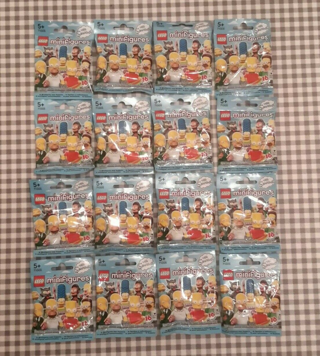 Lego minifigures simpsons series 1 (71005) complete set of 16 new factory sealed