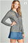 Distressed-Laser-Cut-Zip-Front-Long-Sleeve-Casual-French-Terry-Pocket-Hoodie-Top thumbnail 14