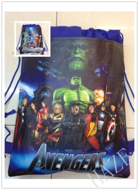 Avengers Backpack Swimming Clothes Environmental Toy Kid's Drawstring Bag AAA