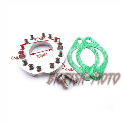 Blue 26mm Carburetor Manifold Intake Spinner Plate Adaptor for ATV Dirt Bike