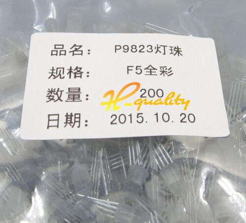 20pcs PL9823 F5 5mm RGB LED round P9823 chipset inside Full color LED