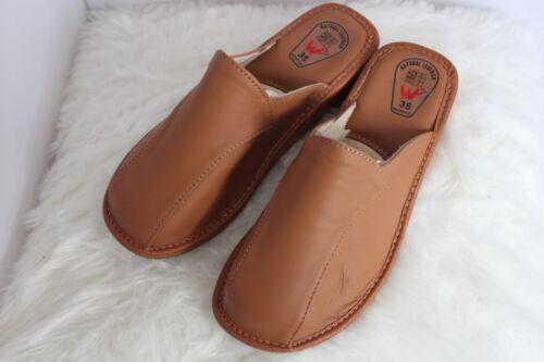 Femmes 100/% CUIR VÉRITABLE Chaussons Mules Clogs Slip On Chaussures Toutes Les Tailles