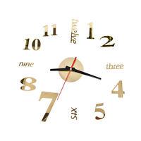 Modern Art DIY Large Wall Clock 3D Sticker Design Home Office Room Decor Hot tb
