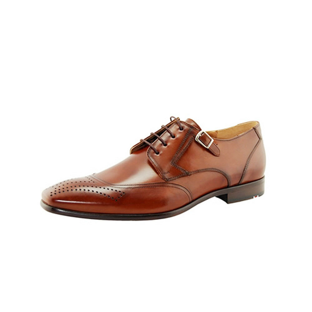 Lloyd Rylon Made in Germany Uomo Oxford Medallion Toe Pelle Shoes Brown