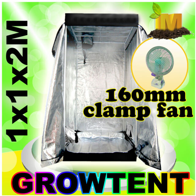 New Hydroponics Mylar Grow Box Grow Tent Grow Room 1x1x2m for Indoor Growers