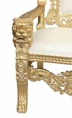 Lion King - Throne Wedding Chair - Hand carved Wood
