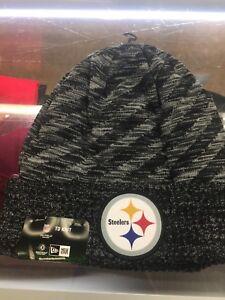 bd16a92a51a 2018 Pittsburgh Steelers New Era TD Knit Hat Field Sideline Beanie ...