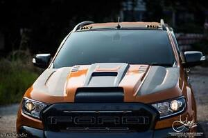 Image Is Loading HOOD SCOOP BONNET COVER ORANGE FORD RANGER WILDTRAK