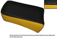 BLACK & YELLOW CUSTOM FITS SUZUKI LS 650 SAVAGE REAR LEATHER SEAT COVER