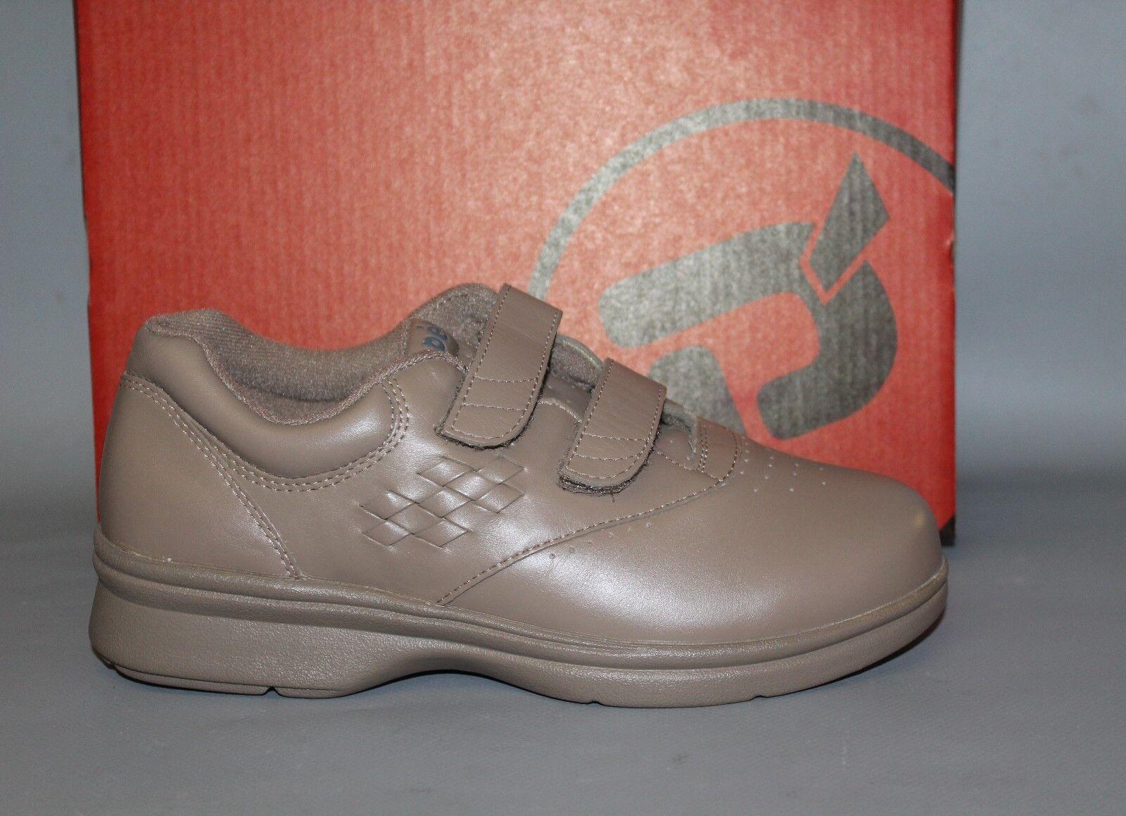 grande sconto NEW donna Propét Vista W3915 W3915 W3915 Taupe Leather Casual Hook and Loop Shoe  il miglior servizio post-vendita