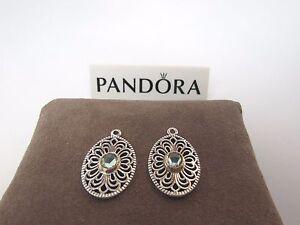 New-w-Box-Pandora-Vintage-Allure-Compose-2-Tone-Earrings-290678SSG