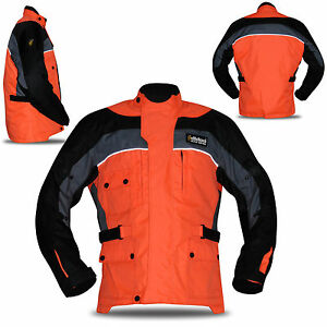 New Mens Armoured Waterproof Quilted Cordura Textile Motorbike Motorcycle Jacket
