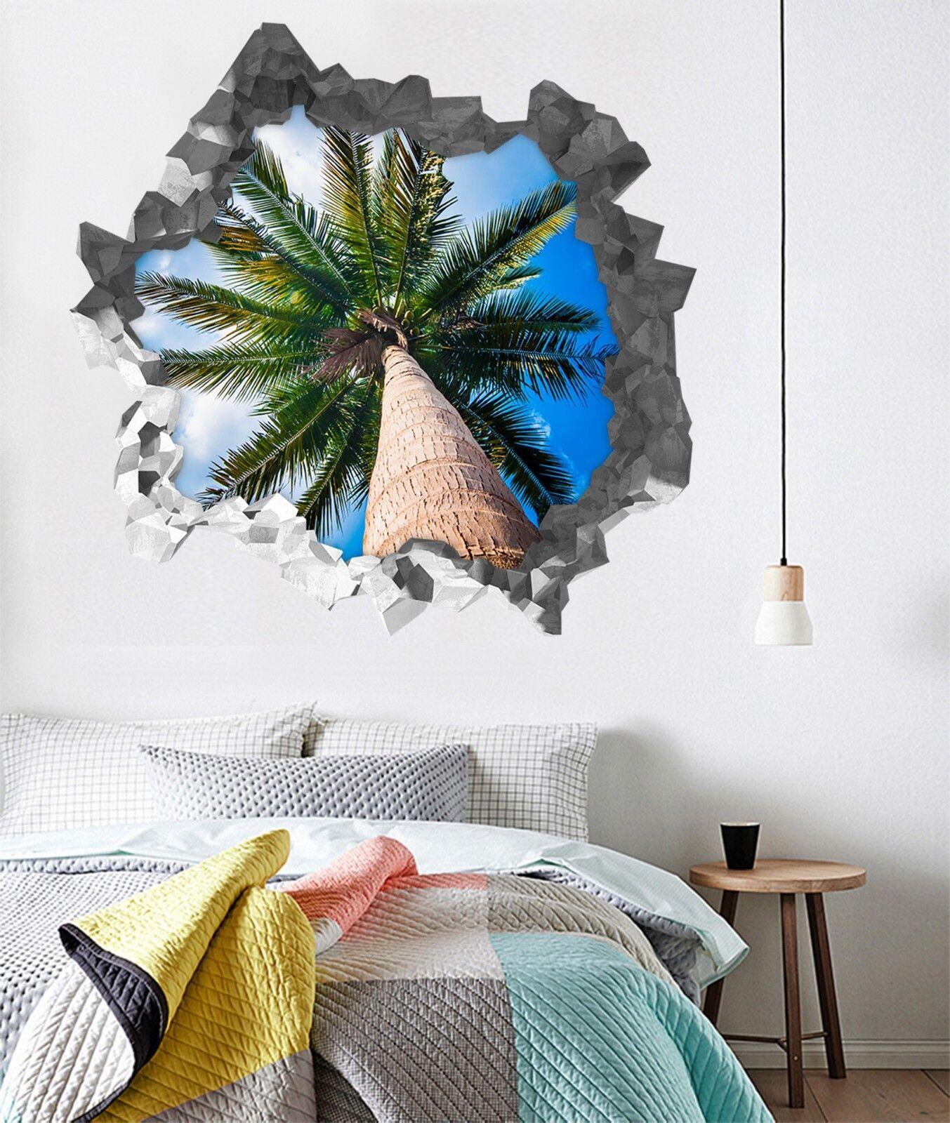 3D Kokosnussbaum 35 Mauer Murals Mauer Aufklebe Decal Durchbruch AJ WALLPAPER DE