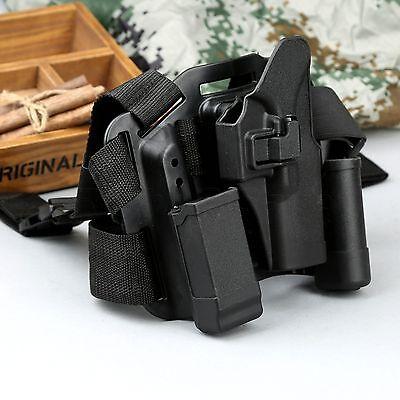 4 in 1 Adjustable Puttee Leg Thigh Rig Holster Magazine Torch Pouch Gun Glock 17