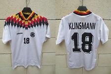 VINTAGE Maillot ALLEMAGNE GERMANY trikot DEUTSCHLAND Adidas 1994 KLINSMANN XS