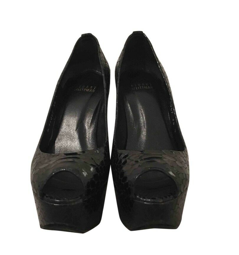 Stuart Weitzman - Leather Black Heels - 3.5 UK size