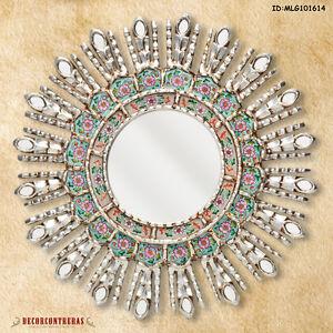 17 7 Quot Silver Decorative Mirror Home Wall Decor