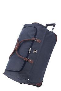 Hauptstadtkoffer-Reisetasche-mit-Rollen-Trolleytasche-Grosses-Gepaeck-Tasche-Blau