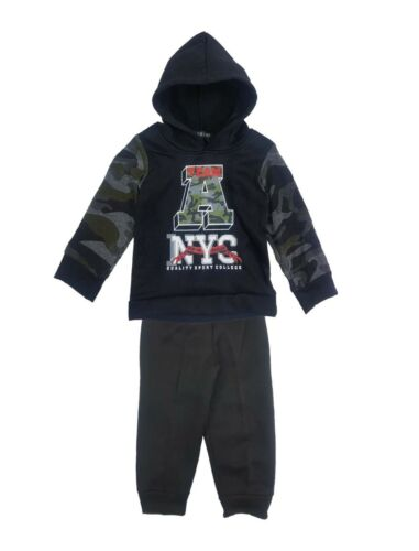 Kids Boys Tracksuit Jog Set Team A New York Hooded Top /& Joggers Age 1-6 Years