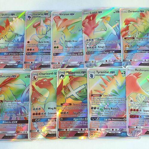 Pokemon Lot Of 5- Gx Ex Mega Random 5 V Vmax Full Arts