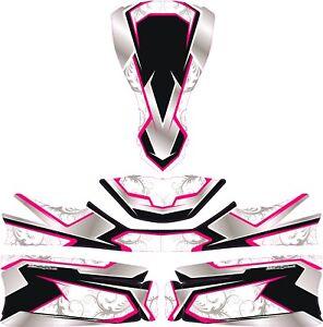 Details Zu Floral Pink Custom Full Kart Sticker Kit Karting Go Kart Jakedesigns