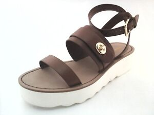 70e58b04aaba3f Image is loading COACH-Sandals-Platt-Platform-Ankle-Strap-Strappy-Shoes-