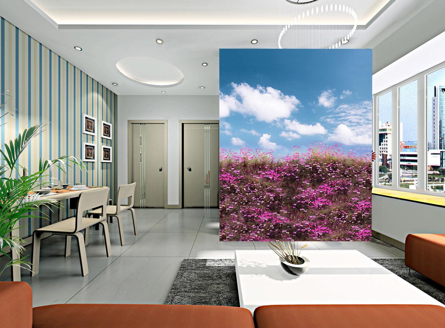 Papel Pintado Mural De Vellón lila Flor Campo Cielo 12 Paisaje Fondo PanGröße