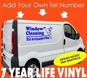 93753dda65 Image is loading Window-Cleaning-Van-Sticker-Vinyl-Graphics-Decal-Vehicle-