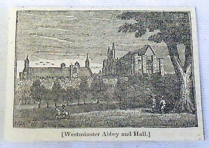 1832-small-magazine-engraving-WESTMINSTER-ABBEY-AND-HALL-with-landscape
