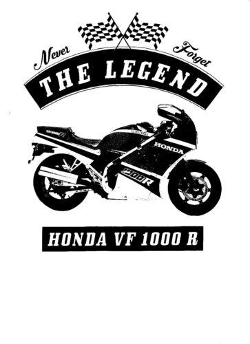 Oldtimer Bike T-Shirt Honda VF 1000 R Youngtimer Motorcycle