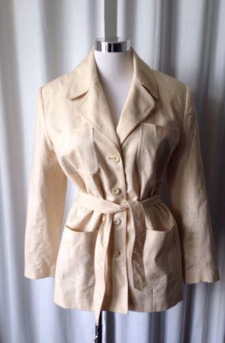 Vintage 70's Halston Linen Safari Jacket Size 10