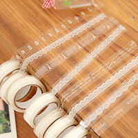 5x Roll Washi Paper Lace Sticky Paper Decorative Masking Tape Self Adhesive DIY