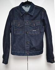 Stone Island Mens Denim Jacket Dark Blue Wash Sz M Medium 100% Cotton Designer