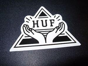 huf worldwide skate sticker triangle logo 3 x 2 skateboards helmets