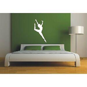 Schatten-Wandtattoo-Kunstturnen-Turnen-Tanzen-Gymnastik-Sport-Wandaufkleber