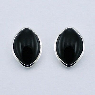 Quality 925 Sterling Silver Earrings - Elegant Marquise Gemstone Studs - Boxed