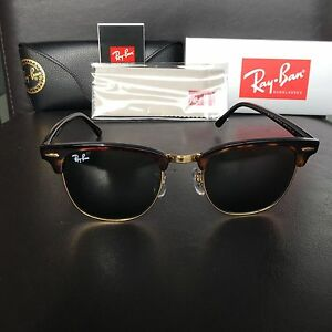 23511aff56 Ray Ban ClubMaster RB3016 W0366 Tortoise Frame Green G15 Lens 51mm ...