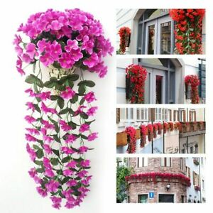 Wall Hanging Artificial Basket Flowers Outdoor Simulation Valentine S Day Decors Ebay