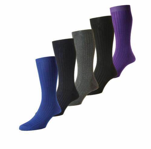 Mens Pantherella Danvers Rib Socks Made In The UK Sizes S//M//L