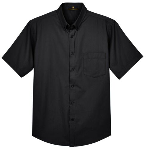 BUTTON DOWN COLLAR MEN/'S SHORT SLEEVE TWILL SHIRT UV 40+ S-5XL POCKET