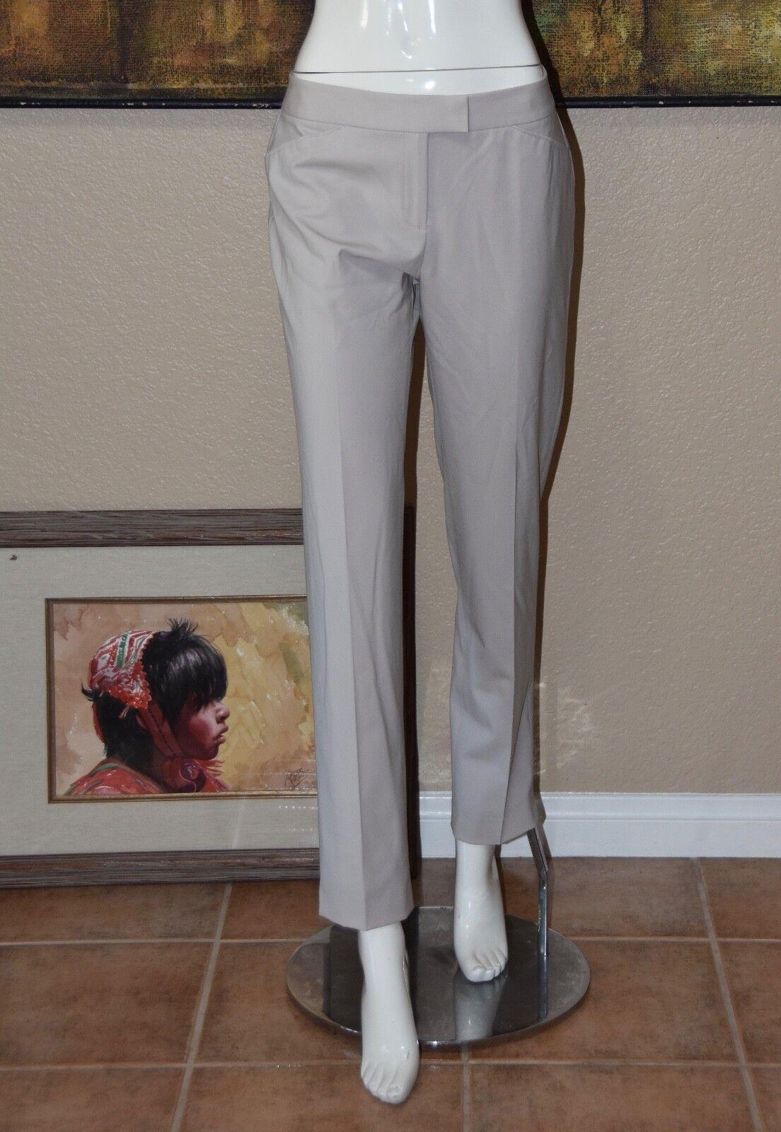 LAFAYETTE 148 NEW YORK Khaki Stretch Wool Pants Size 4 NEW