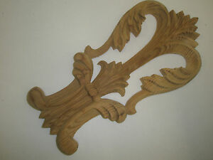 Image Is Loading Decorative Hand Carved Pine Wooden Flared Scroll Centre