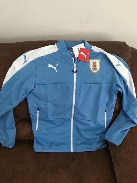 PUMA Uruguay Stadium Jacket World Cup Sz M Silver Lake Blue White ...